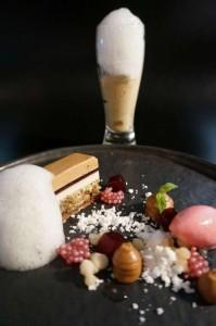 Bier-Jubiläums-Menü im Gourmetrestaurant Aubergine. Bildnachweis: Hotel Vier Jahreszeiten Starnberg