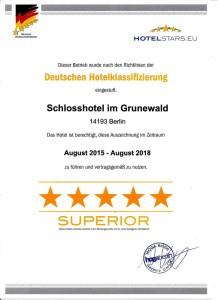 Dehoga Auszeichnung - Schlosshotel Im Grunewald
