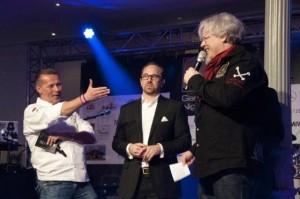 Ralf Bos (rechts) und Karlheinz Hauser bei der Eröffnung der Gastro-Premium-Night 2016