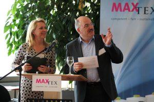 v.l. Suzann Heinemann InfraCert, Gerhard Becker MaxTex