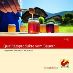"""Die Broschüre """"Qualitätsprodukte vom Bauern 2017"""". Bildnachweis: """"Roter Hahn"""""""