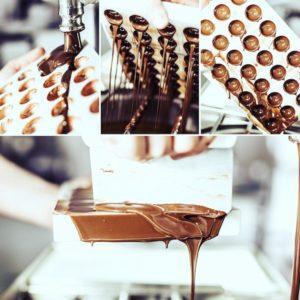 Pralinen aus der Manufaktur Besselmann bei München. Feinste Schokolade ist ein Genuss