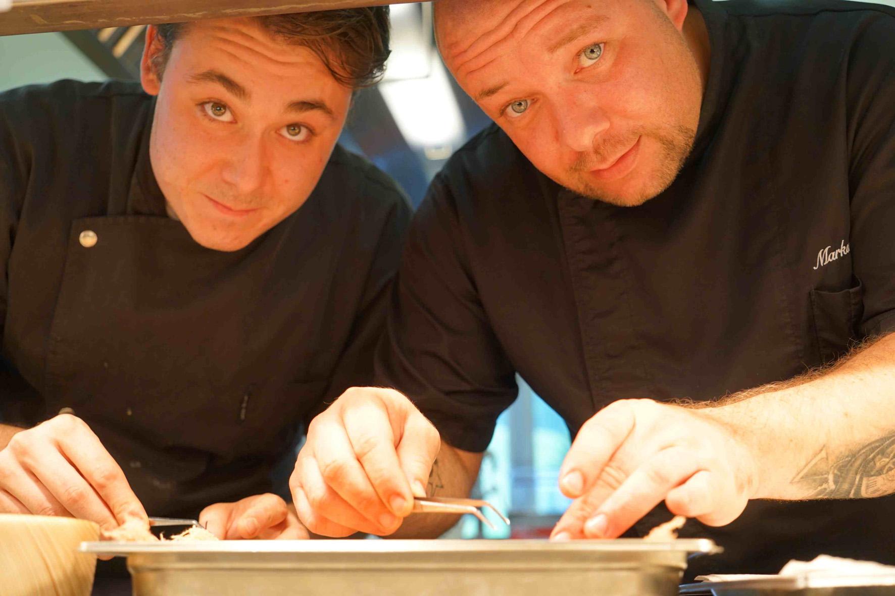 Küchenchef Markus Pichler und Souschef Christoph Krahbichler © Hotel Hohenfels