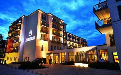 Bild: Das Steigenberger Grandhotel and Spa liegt am feinen Ostseestrand von Heringsdorf auf Usedom / Quelle: Steigenberger Heringsdorf.