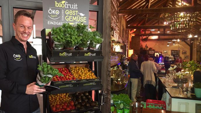 biofruit Geschäftsführer Dirk Salentin auf dem Eifeler Gourmet Festival