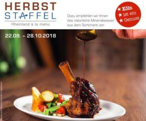 Kulinarische Herbststaffel, 2018 Leckere Menüs,