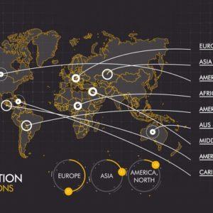Sterne-Hotels: Weltweite Verteilung