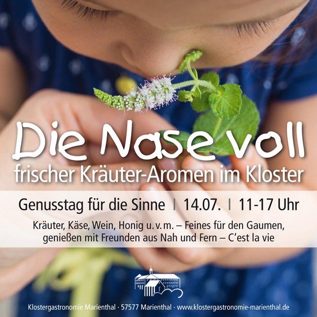 Event Kräuter Klostergastronomie Marienthal