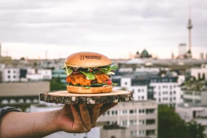 Der vegane Beyond Burger von Scandic.