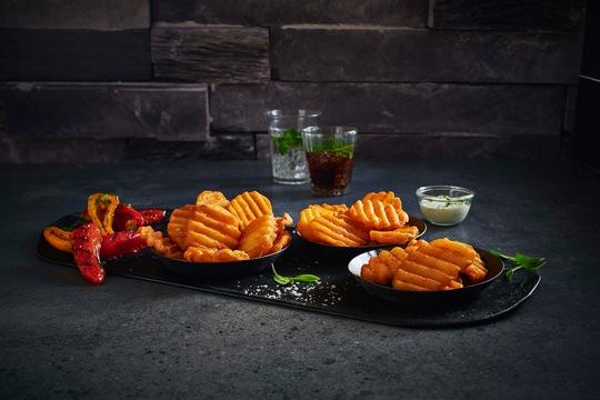 Agrarfrost präsentiert Weltneuheit Crunchy Riffled Frites vor internationalem Publikum