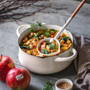 Fruchtiges Apfel-Kichererbsen-Curry
