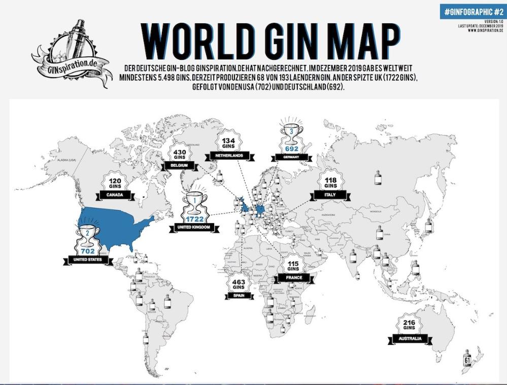 GINspiration World Gin Map